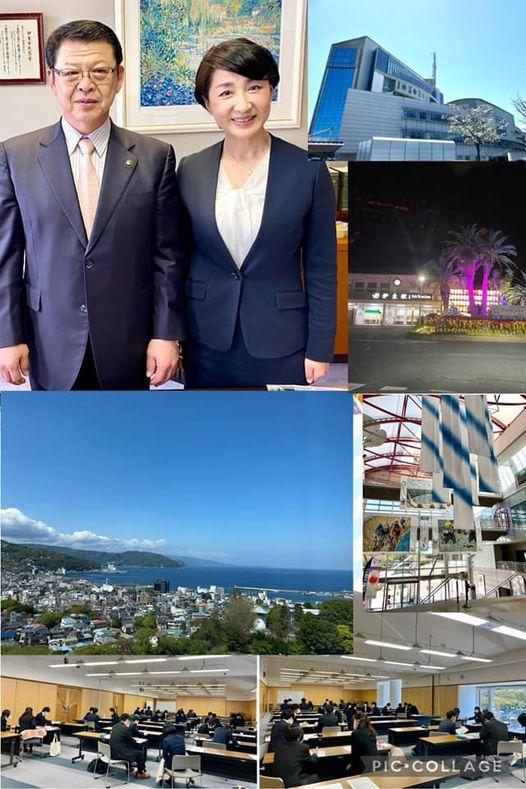 久々の静岡県伊東市でした。小野達也市長は5月の市長選2期目に向けて立ち上がります。