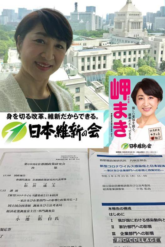 松沢成文参議院議員主催の6月定例勉強会に参加させていただきました